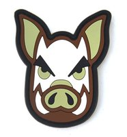 bdu jackets - Tactical PIG PVC Patches Combat Hook And Loop armband Rubber Badge For BDU Caps Backpacks Bags Jackets