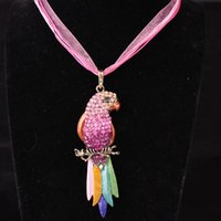 Wholesale New arrival fashion women string necklace lace parrot necklace statement necklace female jewelry X576