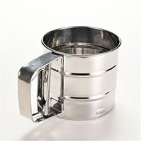 Wholesale Manufacturer of spot hand pressure type stainless steel small flour sifter