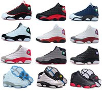 Wholesale Cheap Air Retro XIII mens basketball shoes bred flints grey toe He Got Game hologram barons Athletics Boots sports shoes size