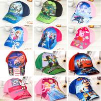 Wholesale poke Minions Frozen boys Baseball Cap Kids Sports Caps girls Cartoon Hats Beanies beanies snapback Sofia caps hip hop