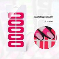 Wholesale Anti overflow Polish Peel Off Nail tape Protector for Nail Art Painting Random Color Nail tools