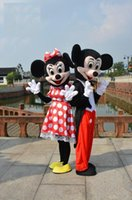 Wholesale High quality Mickey Mouse adult mascot costumes Mickey and minnie mascot costume Halloween carnival fancy dress T123