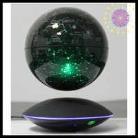 Wholesale 50 magnetic floating levitating earth starry globe with induction for christmas presents wedding gifts for guests