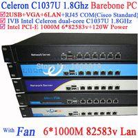 Wholesale Network server firewall router barebone U with Celeron C1037U support ROS Mikrotik PFSense Panabit Wayos Monowall hi spider etc