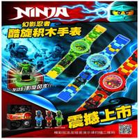 Wholesale 3pcs New DOLL Phantom Ninja KAI JAY LLOYD Watch Building blocks Toys Bricks gift Compatible with minifigures