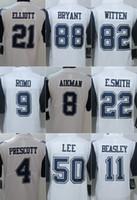 beasley jersey - Color Rush Limited Cowboys jerseys rugby football jerseys ELLIOTT BRYANT WITTEN ROMO PRESCOTT AIKMAN LEE BEASLEY white