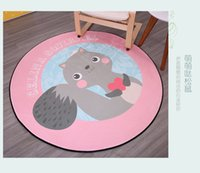 acrylic printing machine - Anti Bacteria Soft ground mat for children living room Cartoon carpet easy care machine washing directly home decoration