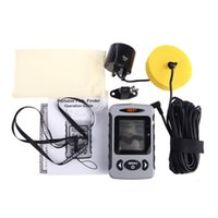 Wholesale 245ft M Range LCD Sonar Fish Finder Fishing Alarm River Lake Ocean Sea Fishfinder Sensor Fishing Finder