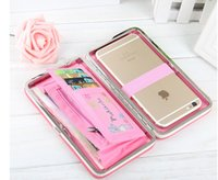 acrylic pencil box - Ms wallet long section baellerry students pencil box clutch purse Korean female bag phone boxes