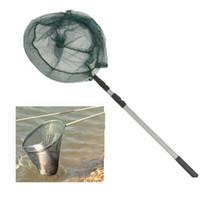 aluminium alloy castings - High Quality m Fishing Net Molinete Cast Small Mesh Fishing Nets Retractable Aluminium Alloy Hand Net top sale Fashion