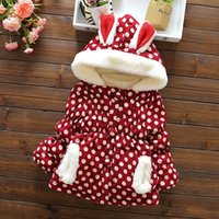 baby coats sale - Hug Me Girls Coat Jackets Coat Winter Warm Hot Sale Clothes Childrens Baby Kids Girls Lace Fashion Dot coat outerwear Clothing AA