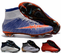 Wholesale 2016 Women Mercurial Superfly FG CR7 Shoes Soccer Boots Cleats Laser original Womens Shoes Soccer Shoes Football Shoes Eur