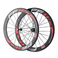bicycle wheel decals - 2016 high quality HTG carbon bicycle wheels clincher tubular f3r f4r f6r f9r carbon wheels with red white decal