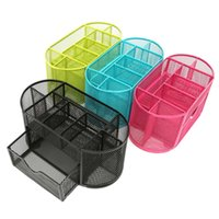 best office desks - Best Price Best Promotion Sturdy Mesh Desk Organizer Metal Storage Box Metal Pen Holder Office Home Supplies