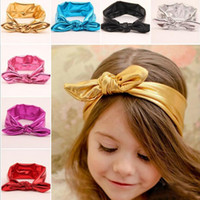animal pictures rabbit - 7 colors Children s hair accessories baby Headbands flowers bow rabbit ears elastic headdress flower pictures Hair Sticks