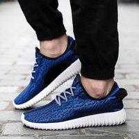 aire c - 2016 Mujeres de Los Hombres Zapatos Casuales de malla de aire entrenadores Transpirable Hombres zapatos Con Cordones Planos Zapatos para c