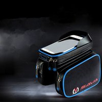 bagging definition - 3 Colors inch Waterproof Double Sides Bike Front Tube Bicycle Bag with High definition PVC Touch Screen for Iphone HTC
