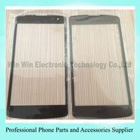 Wholesale Outer Screen Digitizer Cover Glass For LG L Fino F60 D390 MS395 Black Front Glass Lens Replacement DHL EMS
