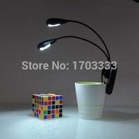 Wholesale 100pcs Black Clip on Arms LED Reading Light Lamp Mini Book Light for Reading DHL Fedex