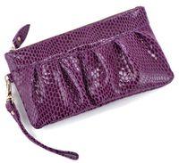 alligator money clip - fashion women genuine leather wallet female evening bags clutch snake patter purse money clips ANSL