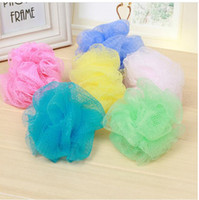 bath puffs wholesale - Bath Shower Body Bubble Exfoliate Puff Sponge Mesh Net Ball Mesh Bath Sponge Accessories Hot Sale Home Supplies