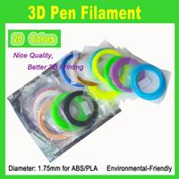 Wholesale 3D Printer filament for kids DIY D Printing Pen Store MM ABS Filament clolors x meters color free DHL