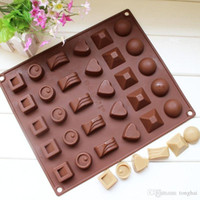 Wholesale Square Soft Silicone Heart Round Chocolate Mold Ice Cube Tray Jelly Candy Mould H2010221