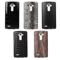 Precio de Snake skin-Para el diseño de Sony Xperia Z5 / M4 / Z4 / LG G4 / G5 / K7 / Cuero K10 / Huawei P8 Lite / P9 / Lite madera dura de la caja Hombre cocodrilo tejido de la piel de serpiente cubierta de madera