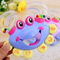 Wholesale Hot Sale Interactive Crab Shape Rattles for Babies Handbell Developmental Baby Rattles Mobiles Toy Plastic