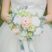 best bouquet - Bridal Wedding Bouquets Rose Wedding Bouquet Flowers Best selling Beautiful Elegant Round Shape Satin Wedding Bouquet