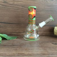acrylic nails types - 4 inch Glass Oil rigs Minitube Glass vapor rigs oil dabbers rigs with Colored Glass Rod mm joint size glass dome nail