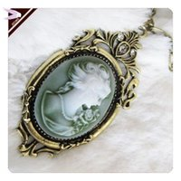 belle heart - Valentine Gift Necklace Fashion For Women Retro Belle Cameo Pendant Necklace AN085