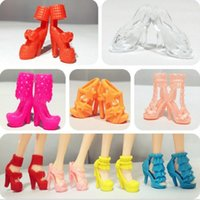 Wholesale 6PCS Princess Doll Accessories Shoes High Heels Short Boots Cake Baking Naked Doll General Accessories Fit for cm Dolls