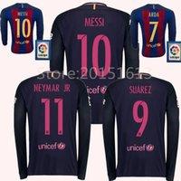 barcelona long sleeve shirt - 2016 Full Sleeve Barcelona jersey Messi Jerseys neymar jr A iniesta Suarez Arda Jordi Alba Soccer Jersey Mascherano thai Long Shirts Kit