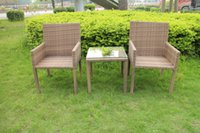 Wholesale New PE rattan wicker table and chair All Weather patio PE rattan table and stackable chairs wicker rattan furniture patio furniture
