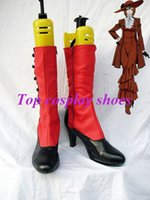 angelina butler - Freeshipping custom made anime Black Butler Madam Red Angelina Dulles Cosplay Boots Shoes for Halloween Christmas festival