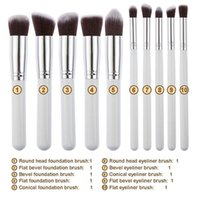 beauty foundation set - 10pcs Makeup Brushes Set Beauty Cosmetics Powder Blush Foundation Brush for Makeup Contour Make Up Tools Shadow Cream