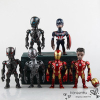 artist action figures - Artist Mix Marvel Avengers Age of Ultron Iron Man Captain America Ultron Sentinel PVC Action Figure Toys CM