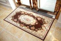 Wholesale Wilton Aubusson Factory directly sell jacquard floral pattern carpet mat rug anti slip door mat home decor home decoration