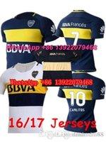 Wholesale 2016 Soccer Jersey BOCA Fotball shirts Carlos Tevez Morbi Jersey camisas Riquelme Gago Gigliotti Carlitos Boca Juniors Kids Woman Maillot