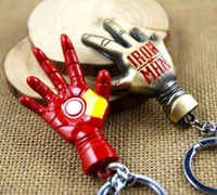 armour suit - Iron Man Hand of Armour Suit Cool Super Hero Keychain Toy Gift Key Ring New Arrival Marvel Comic Accessories Retail