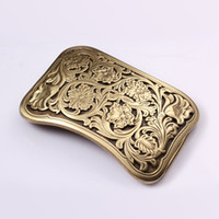 Wholesale high quality belt buckle for mens leather belt antique solid brass western buckles vintage belt width CM