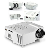 Wholesale PORTABLE MINI LED PROJECTOR CINEMA THEATER PC LAPTOP VGA USB SD AV INPUT HDMI Home Cinema HD