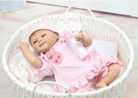 Cheap New 18 Inch Dolls silicone reborn baby dolls Handmade realistic Lifelike Real touch Vinyl Silicone newborn Doll Girl Gift