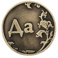 ancient artifacts - Russian word letter game currency house decoration night stand Artifact table decoration game toy Rare ancient Redbook coins
