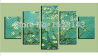 apricot tree pictures - Apricot Blossom Canvas tree oil painting Classic Van gogh Painting flower Picture hand painted On CanvasShipping Pn32