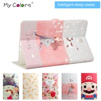 auto screen printing - Mycolors Magnetic Smart Cover for Ipad air Samsung Tab A T350 T550 S T800 Folding cases with Auto Sleep Wake Polybag