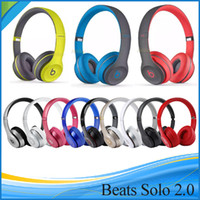 Wholesale Used Beats solo2 Wireless Headphones Bluetooth Headphones Headset Over Ear with seal retail box DHL FREE