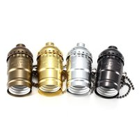 Wholesale Top Quality E27 Retro Vintage Aluminum Zipper Style Edison Lamp Light Holder Pendants Socket V